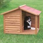 En udehund skal kunne søge læ, her hjælper et hundehus (Foto Petworld.dk)
